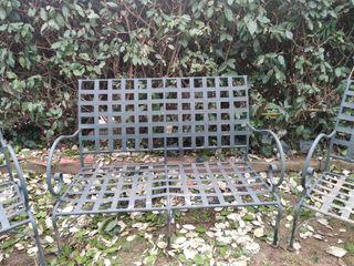 conjunto de jardín de forja