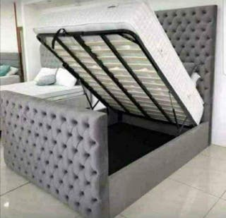 Luxurious Chesterfield Storage Bed For Sale!!!
