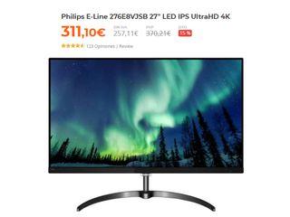 """Monitor Philips 27"""" LED IPS UHD 4k"""