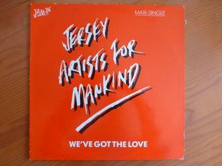 "Disco de vinilo ""Jersey Artists for Mankind"""
