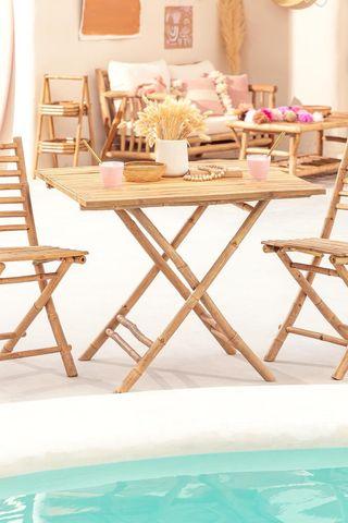 Mesa de Bambú Plegable * NUEVA *