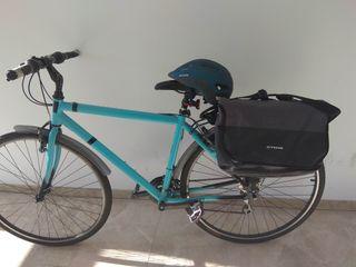 Bicicleta trekking urbana con extras