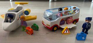 Autobús y avión playmobil 123