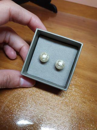 Pendientes perlas medianas