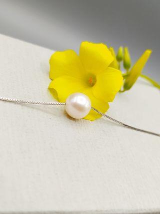 Collar de plata y perla