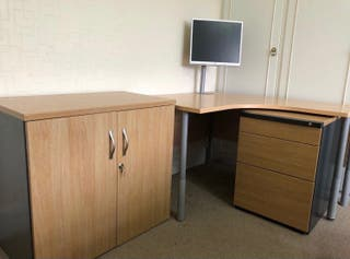 Computer office desk table drawers cabinet