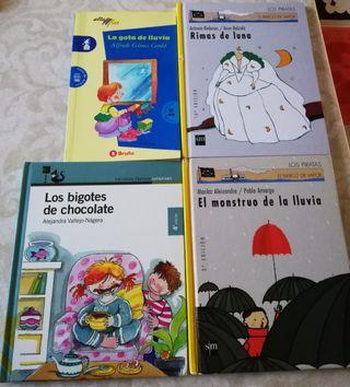 Lote 4 libros de 4 a 6 años