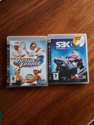 2 juegos Play 3