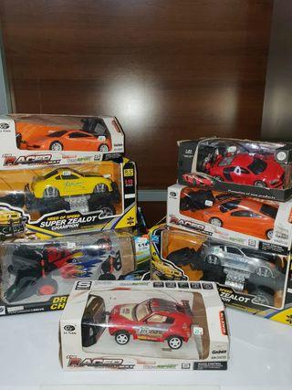lote de coches teledirigidos