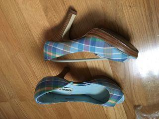 Botines, suecos, zapatos cuadros talla 37