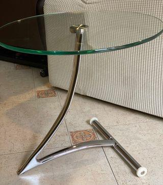 Mesa auxiliar de cristal