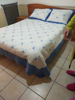 colcha de cama de matrimonio 135 o 150