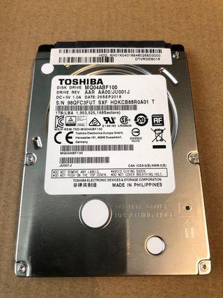 Disco duro portatil 1Tb Sata