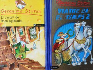 2 libros Gerónimo Stilton en catalán
