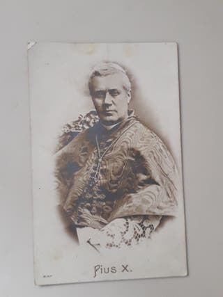 antigua tarjeta postal religiosa inicios siglo XX