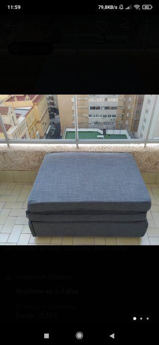 Sofá cama puff VALLENTUNA Ikea NUEVA