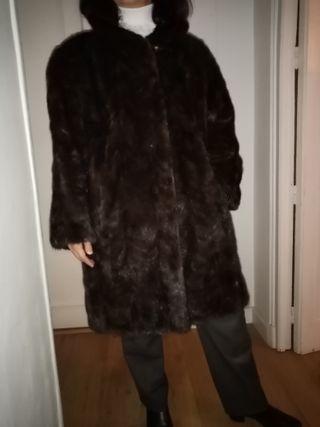 Abrigo de piel de visón de mujer