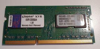 MEMORIA RAM DDR3 KINGSTON 4GB PARA PORTATIL