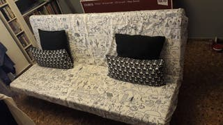 Sofá cama modelo NYHAMN de Ikea