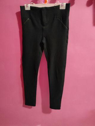 Pantalón largo de vestir elástico