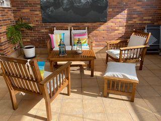 muebles de terraza de madera