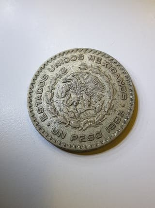 Moneda 1 peso Mexico 1963