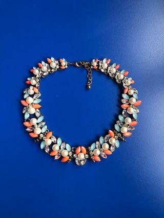 Collar Choker Con Perlas y Brillantes, Zara