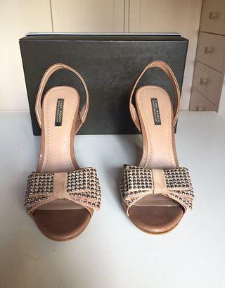 Sandalias de fiesta, tacón alto de Zara Woman