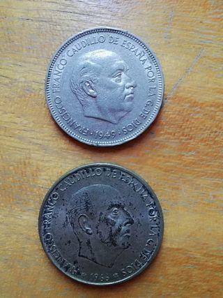 5 y 100 pesetas de Franco - Coleccionismo