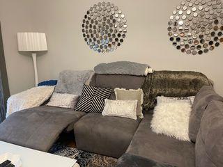 Sofa grande reclinable eléctrico