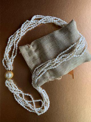 Collar perlas de rio