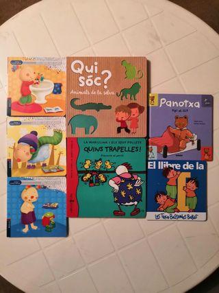 Nous 7 llibres de 1 a 3 anys.