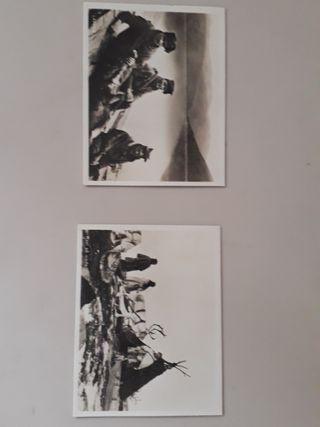 mini postales antiguas con su cajita