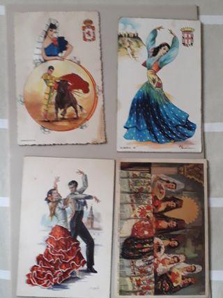 postales regionales folclórica años 50's