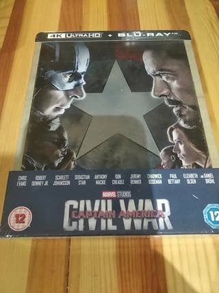 capitan América Civil War steelbook
