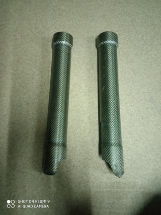 protectores horquilla carbono moto de trial