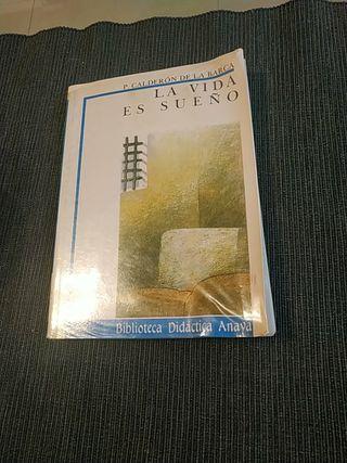 libro la vida es sueño de p. Calderón de la barca