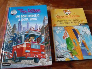 Novelas Gerónimo Stilton y Tea Stilton