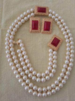 Conjunto de perlas. Vintage