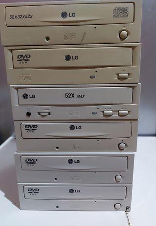 Lote de Lectores DVD LG y grabadora