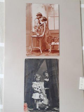 antiguas postales finales siglo XIX inicios XX