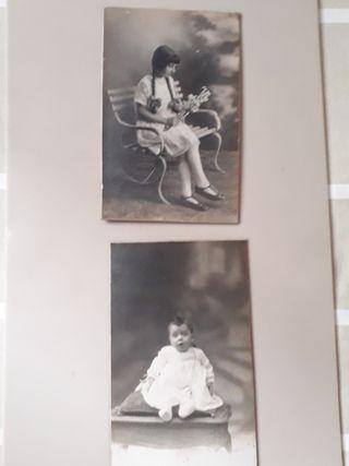 postales fotográficas blanco/negro finales s. XIX