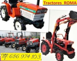 Mini tractor con Rotavator. minitractor