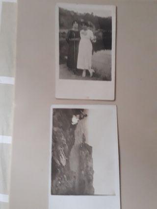 postales antiguas fotográficas b/n años 10's
