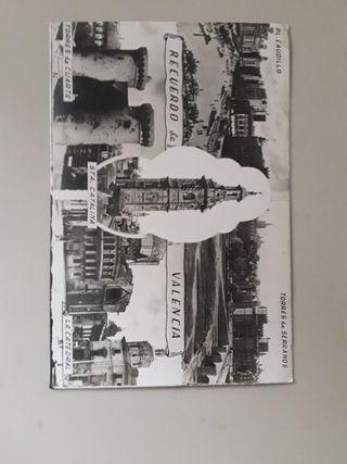 postal fotográfica de Valencia años 40's - 50's
