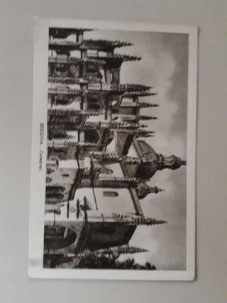 antigua tarjeta postal años 40's - 50's