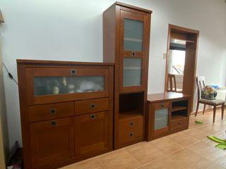 Conjunto muebles salón comedor