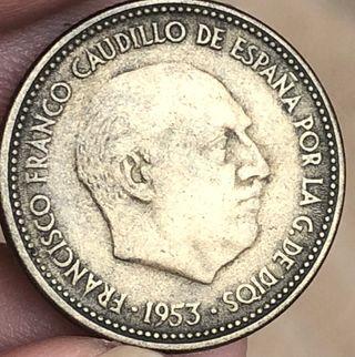 2,5 pesetas de 1953. *19. *54