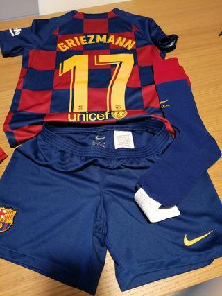 Equipación Barça. niño 8-9 años