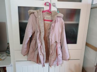 abrigo talla 8 ( el corte inglés) niña rosa